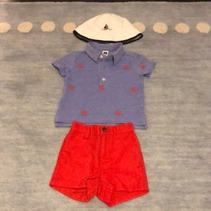 Brand New Janie and Jack outfit with hat